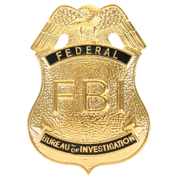 FBI METAL PIN ON BADGE