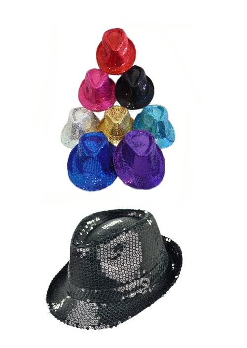 FEDORA SEQUIN HAT IN 8 EYE CATCHING COLOURS
