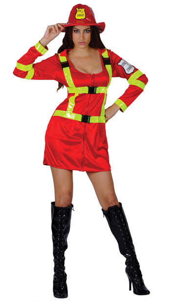SEXY FIREFIGHTER LADIES COSTUME