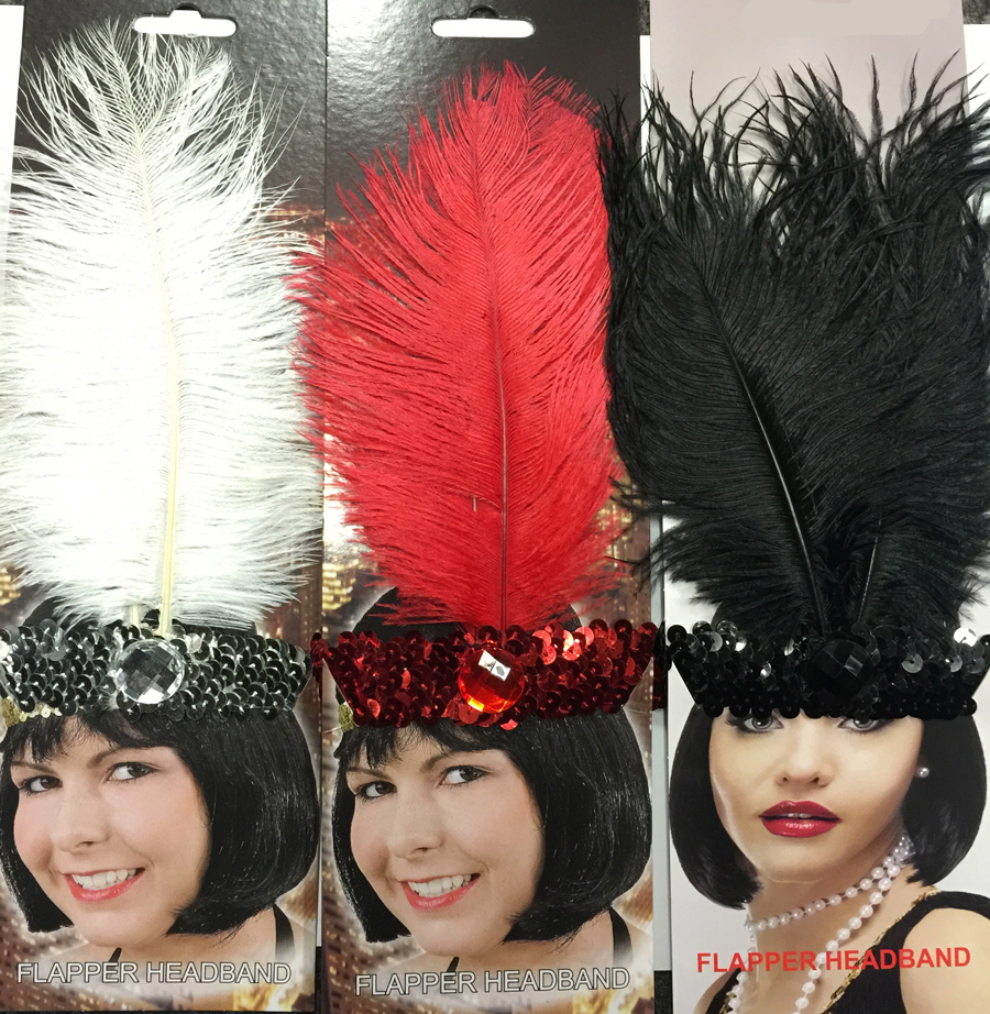 1920'S FLAPPER HEADDRESS BUDGET - 3 COLOURS