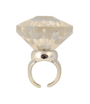 FLASHING DIAMOND BLING RING - HUGE