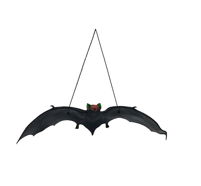 BLACK BAT WITH RED FACE