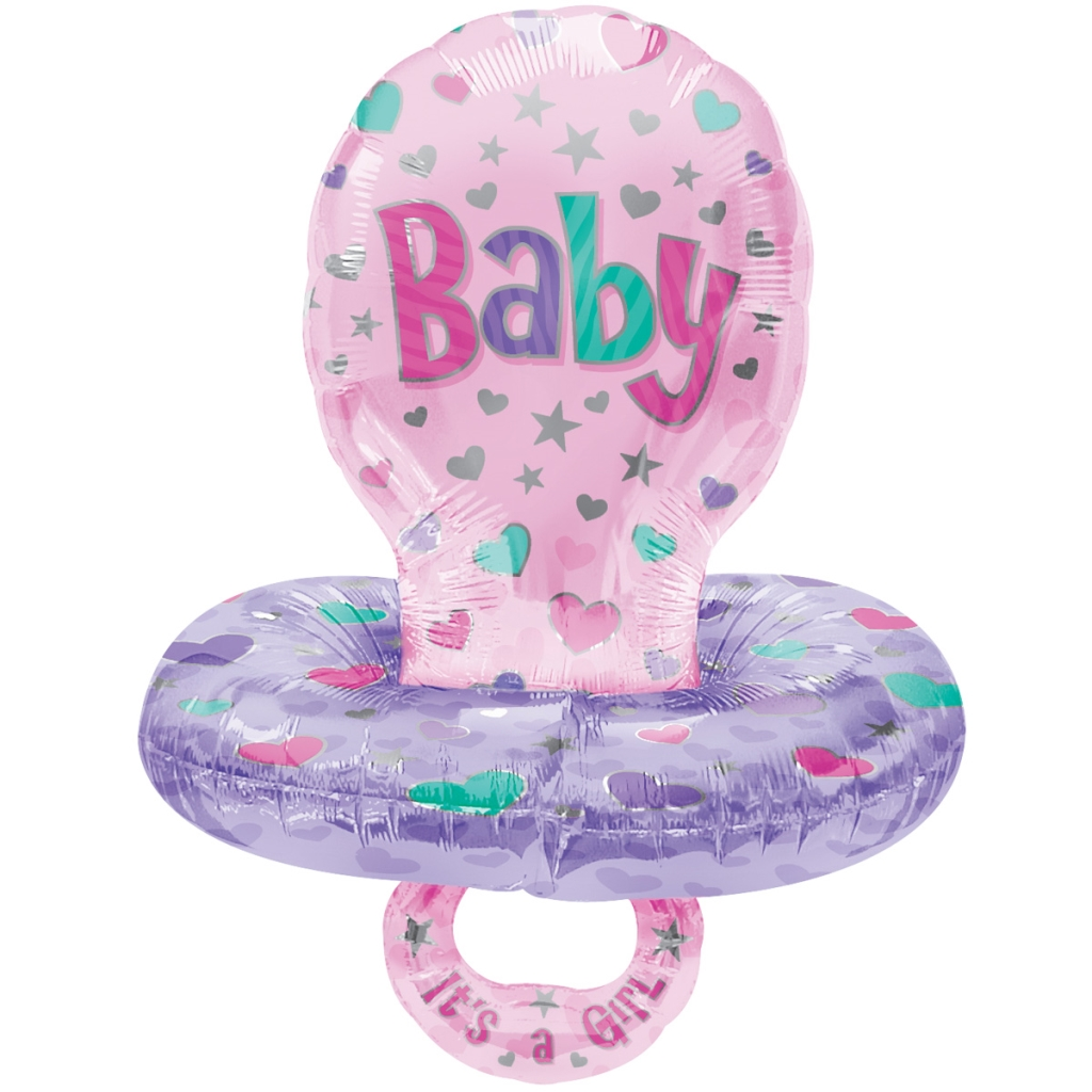 FOIL SUPER SHAPE BALLOON - BABY PACIFIER GIRL
