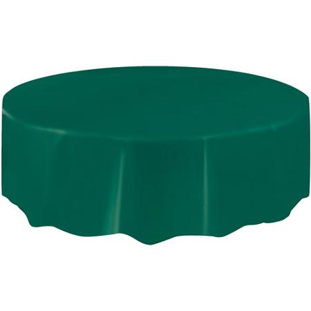 DISPOSABLE TABLECOVER - CIRCULAR GREEN