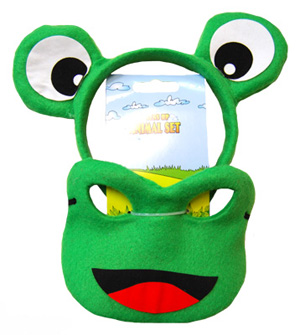 HEADBAND & MASK SET - GREEN FROG