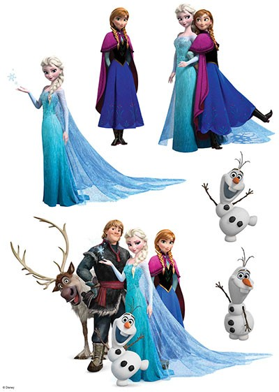 DISNEY FROZEN EDIBLE ICING IMAGE - CHARACTERS
