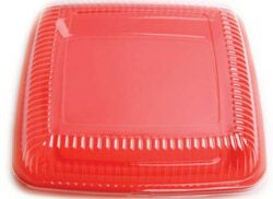 LARGE SQUARE DURABLE PLATTER - RED - NO LID