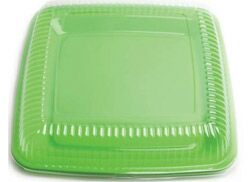 LARGE SQUARE DURABLE PLATTER - LIME - NO LID