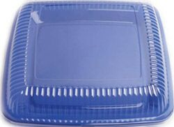 LARGE SQUARE DURABLE PLATTER - BLUE - NO LID