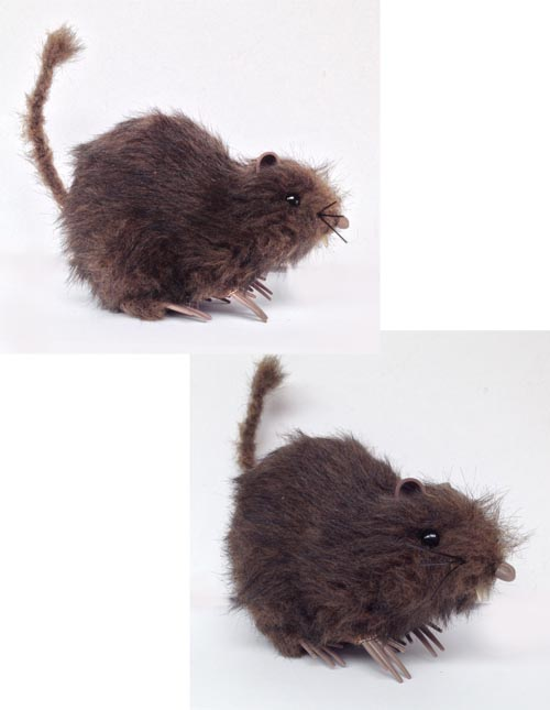 RAT - LARGE FURRY BROWN & BLACK