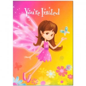 fairy (whimsical) in the garden party invitations
