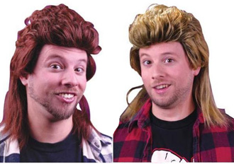 MULLET WIGS IN 3 COLOURS