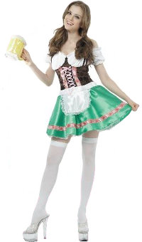 BEER GIRL COSTUME - ONE SIZE