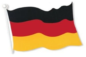 GERMAN FLAG CUTOUT 45CM