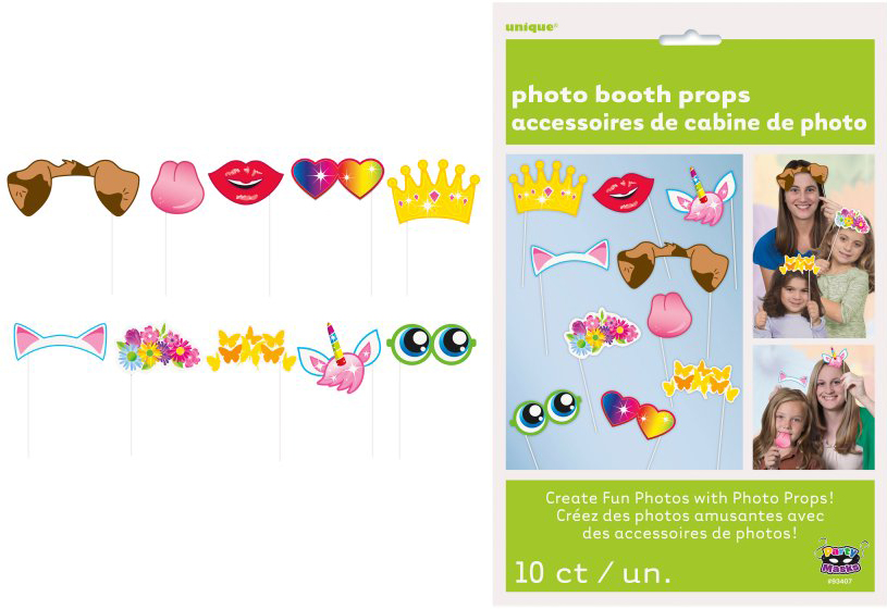 SELFIE PHOTO BOOTH PROPS - GIRLS BIRTHDAY PACK OF 10