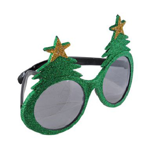CHRISTMAS TREE GLITTER GLASSES