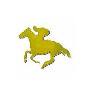 FOILBOARD GOLD HORSE & JOCKEY SMALL CUT OUTS - PACK OF 12