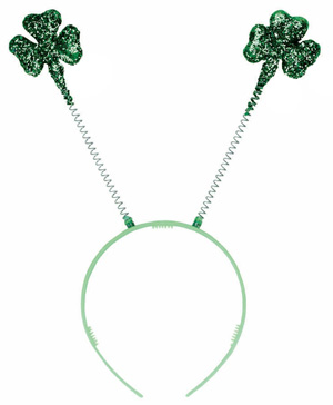 GLITTER SHAMROCK HEAD BOPPERS