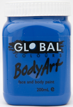 Image of Global 200ml Face Paint  Royal Blue
