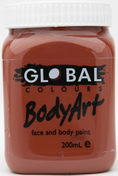 GLOBAL 200ML FACE PAINT - BROWN