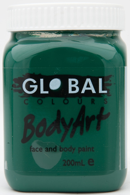 Image of Global 200ml Face Paint  Dark Green