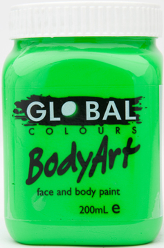 Image of Global 200ml Face Paint  Fluro Green