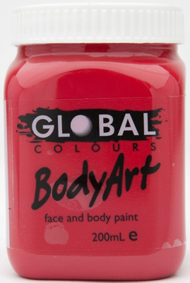 GLOBAL 200ML FACE PAINT - RED