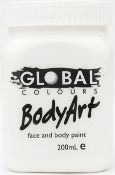 GLOBAL 200ML FACE PAINT - WHITE