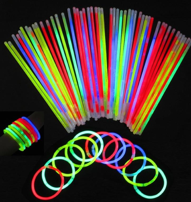 GLOW IN THE DARK ECONOMY BRACELETS PACK 15