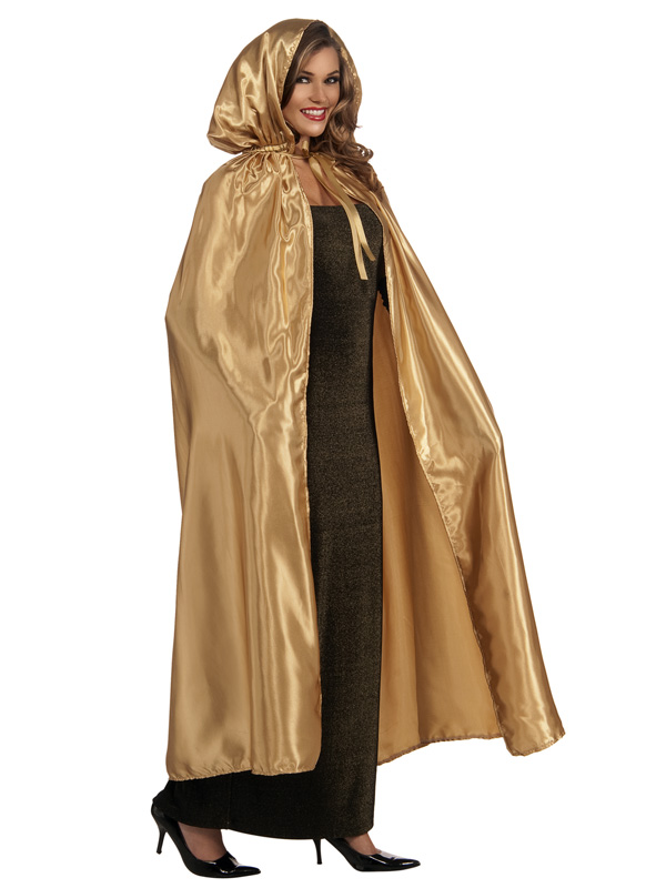 MASQUERADE CAPE WITH HOOD - GOLD