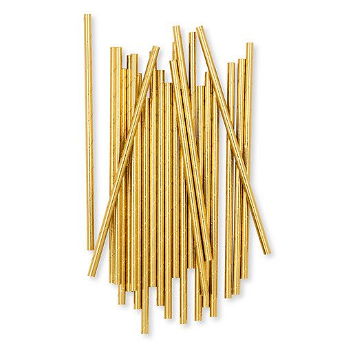 STRAWS - GOLD FOIL PACK OF 10