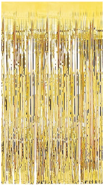 METALLIC FOIL CURTAIN - GOLD