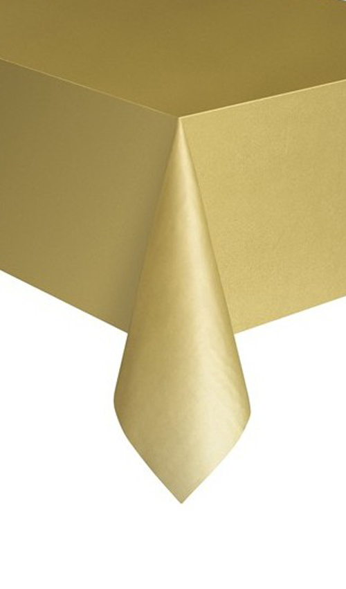 DISPOSABLE TABLECOVER - RECTANGULAR GOLD