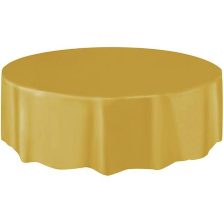 DISPOSABLE TABLECOVER - CIRCULAR GOLD