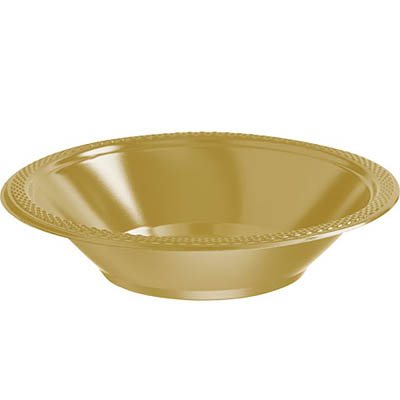 DISPOSABLE DESSERT OR SNACK BOWL GOLD - PACK OF 25