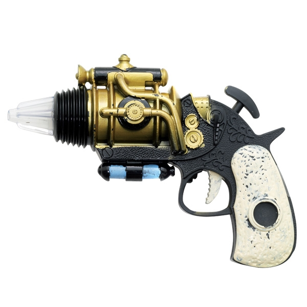 STEAM PUNK GOLD FUTURISTIC GUN/REVOLVER