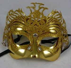 MASK - GLITTERED GOLD FANTASY