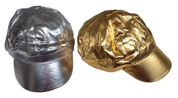 1970\'S METALLIC GOLD OR SILVER MOD HAT