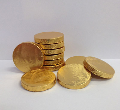 POT O GOLD ST PATRICKS DAY CHOCOLATE COINS PACK OF 10