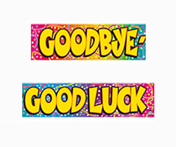 OCCASION BANNER - GOODBYE & GOODLUCK