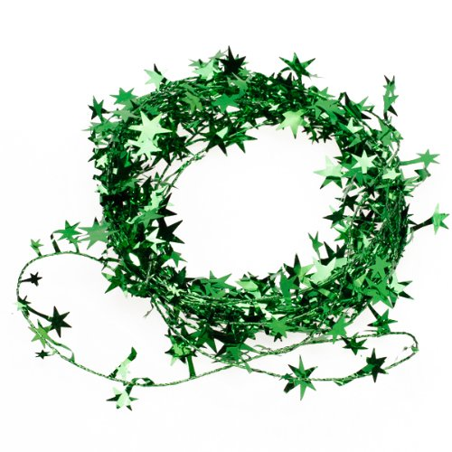 WIRED CHRISTMAS GREEN STAR GARLAND