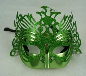 MASK - GLITTERED GREEN FANTASY