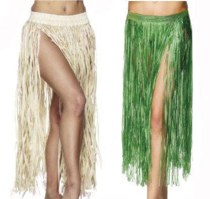 HAWAIIAN HULA SKIRT - PLAIN NATURAL
