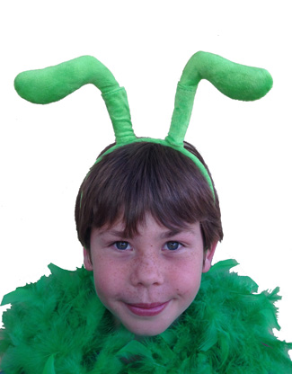 GREEN BUG ANTENNE ON A HEADBAND