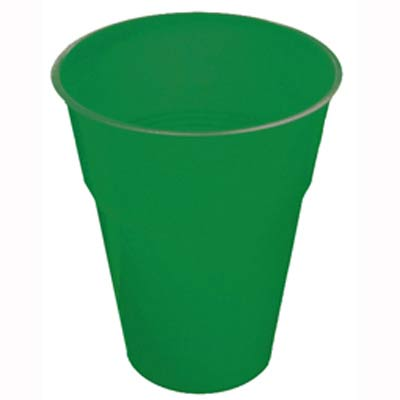 CHRISTMAS GREEN COLOURED CUPS - PACK 25