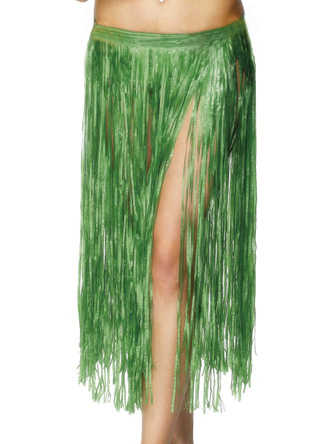 HAWAIIAN HULA SKIRT - PLAIN GREEN