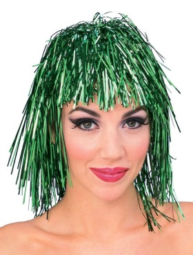 TINSEL WIG - GREEN