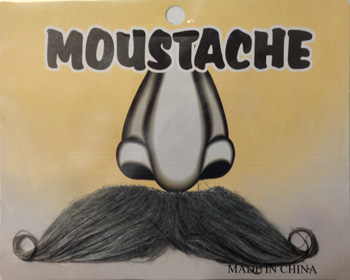 MOUSTACHE - GREY CURL TIP