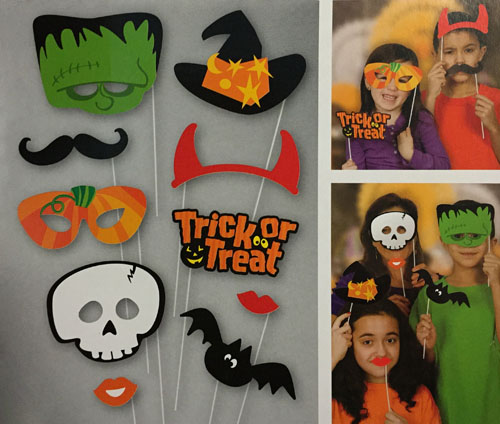 SELFIE PHOTO BOOTH PROPS - HALLOWEEN PACK OF 10