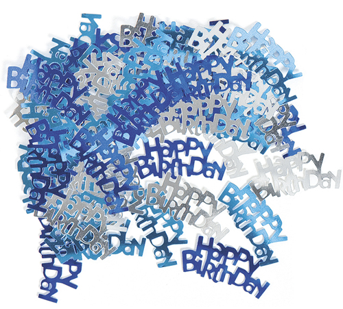 GLITZ BLUE & SILVER HAPPY BIRTHDAY SCATTERS